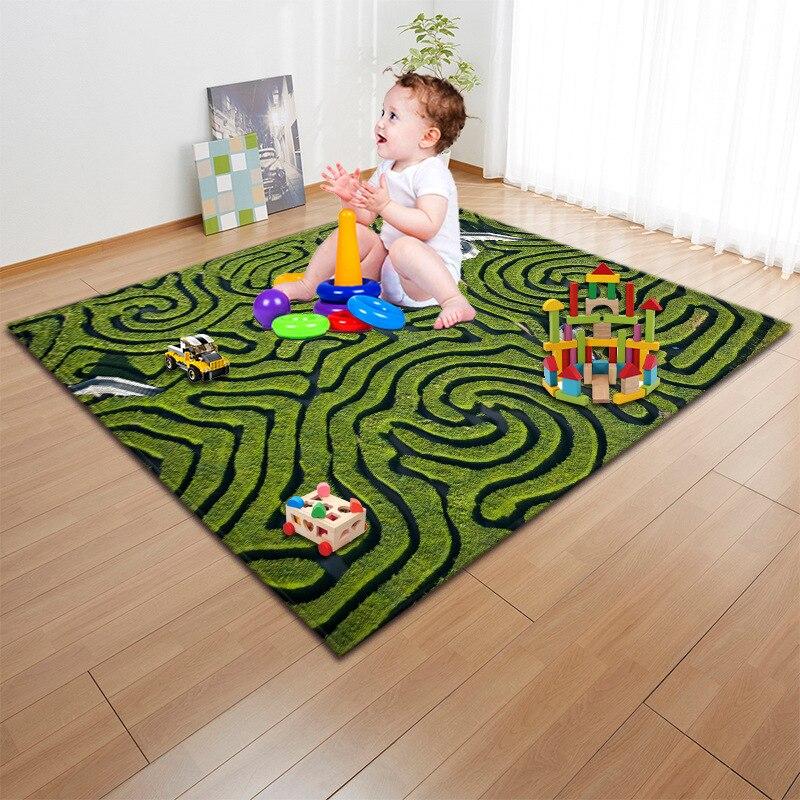 Enfants/bébé ramper tapis de jeu mode 3D Cartoon imprimé enfants jeu tapis doux bébé tapis de jeu tapis de pique-nique en plein air tapis et tapis - 5
