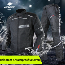 LYSCHY Motorcycle Jacket Motorbike Riding Jacket Pant Waterproof Motorcycle Full Body Protective Gear Armor Winter Moto Clothing lyschy motorcycle jacket motorbike riding jacket pant waterproof motorcycle full body protective gear armor winter moto clothing