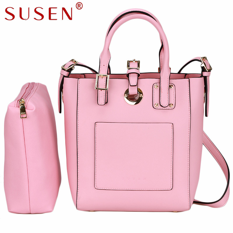 SUSEN 4029 high quality elegant Tote Women lady top leather Satchel font b Handbag b font
