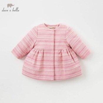 a0e0cf0fba33 DB8713 dave bella/хлопковая куртка для маленьких девочек детская красная  верхняя одежда ...