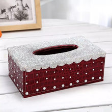 Bling Bling Crystals Home Office Decoration Tissue Box Paper Towels  Container Luxury Rhinestone Car Tissue Cover Case Great Gift 464cc2ee970a