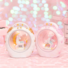 Ins Cartoon  LED Unicorn lamp animal night light bedroom Toy Dolls Baby Kids Gift Home Decoration For Christmas Party Lamp