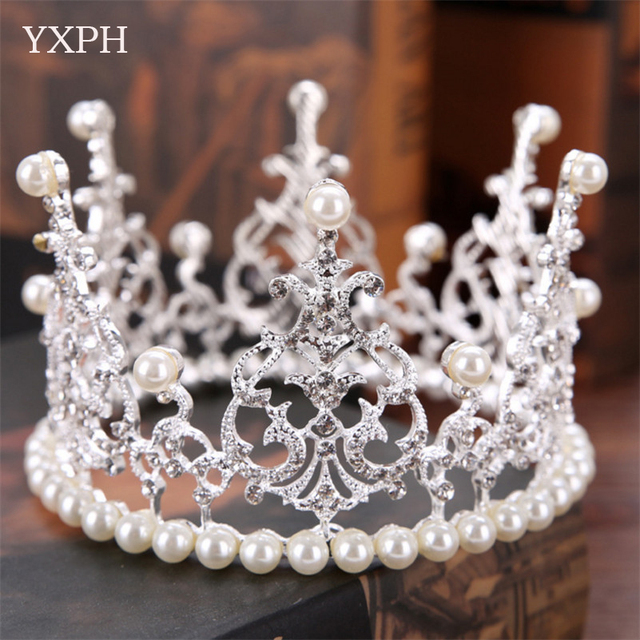 Yxph Classic Hair Jewelry Tiaras Crown Wedding Accessories Bridal