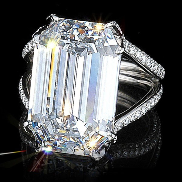 Vintage Cross-border Exclusive Stone Drill Princess Ring Female Fashion Exaggerated Big Party Wedding Engagement Rings for Women