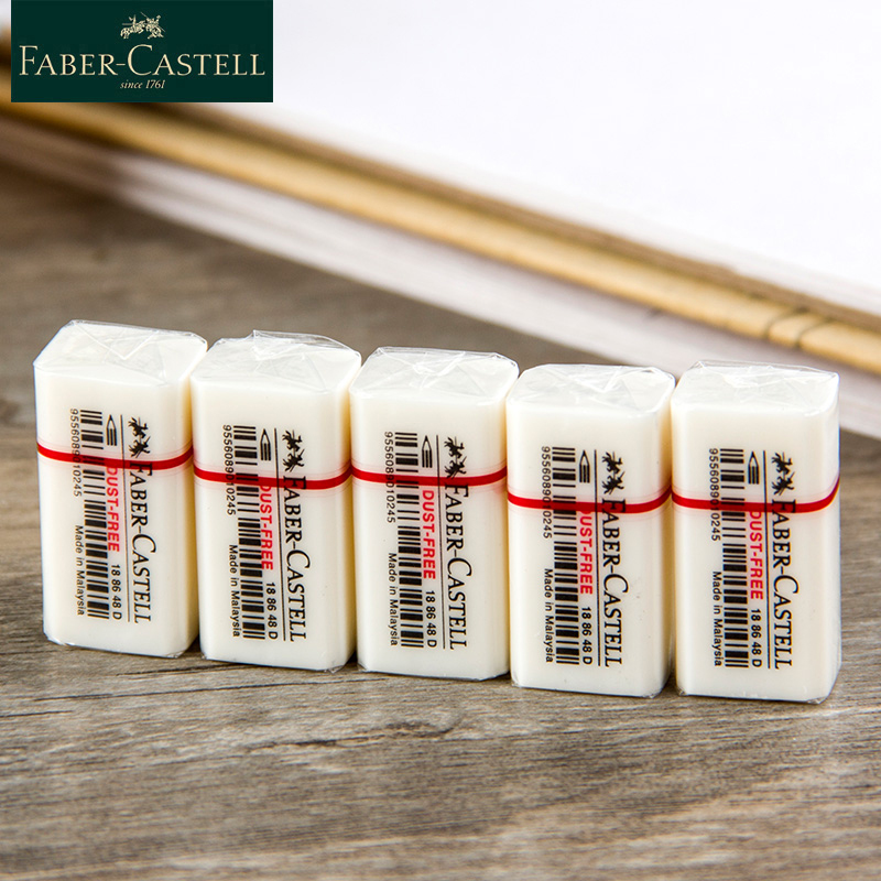 Faber Castell 1886 Cute Eraser 1pcs Art Set Eraser Pencil Faber-Castell Mini White Color Erasers For Kids Art School Supplies