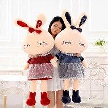 35-110cm 5 Colors Cute little Rabbit plush toy doll creative nap sleep big pillow lover gift female rabbits
