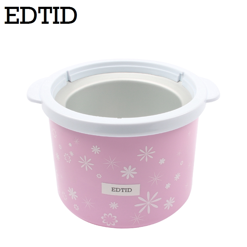 EDTID 1.5L Electric Mini Ice Cream Maker with Transparent Cover for Home Kitchen to Prepare Soft and Frozen Fruit Dessert and Ice Cream 3
