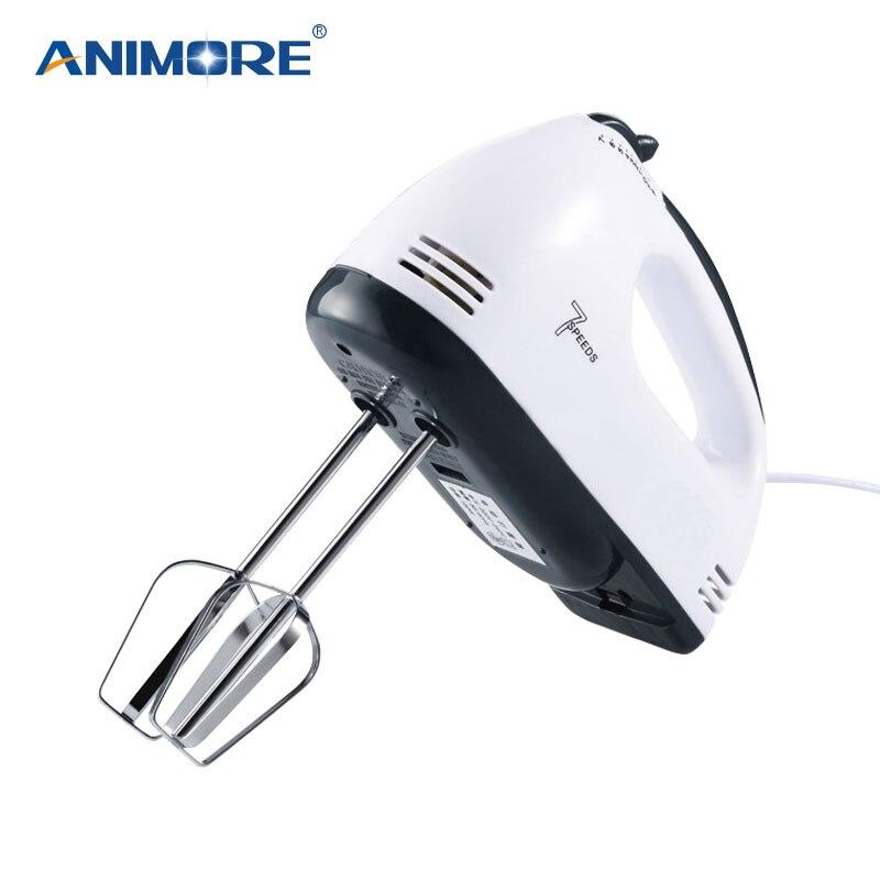 7 ANIMORE Manual Mini Liquidificador Velocidade Massa Misturador Da Mão Liquidificador Processador de Alimentos Multifuncional Misturador Da Cozinha Elétrica FM-02C