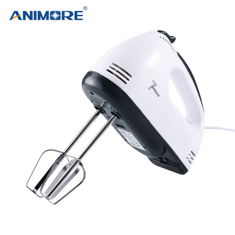 ANIMORE Manual Mini Blender 7 Speed Dough Hand Mixer Food Blender Multifunctional Food Processor Electric Kitchen Mixer FM-02C
