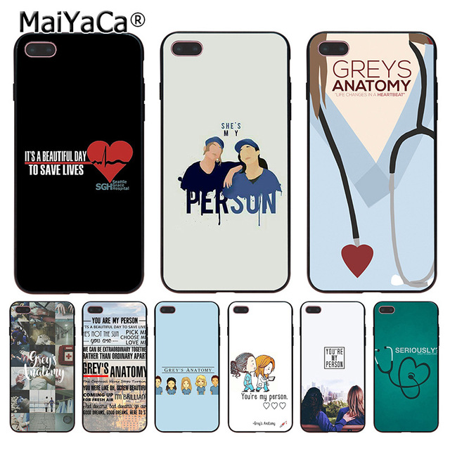 MaiYaCa Para iphone 7 6 X para o Caso de estares A Minha Pessoa Greys Anatomy Coque caixa do telefone para Apple iphone 8 7 6 6 s Plus X 5 5S SE 5C Caso