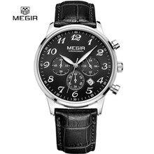 Megir Men Chronograph Watches Clock Mens Watch Top Brand Luxury Date Casual Sport Quartz Watch Male Wristwatch Relogio Masculino
