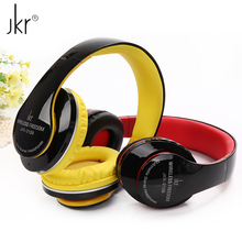 JKR-213B High Quality Foldable Stereo Sports Wireless Bluetooth Headset Headphone with Mic FM Radio TF Card for Smart Phone PC