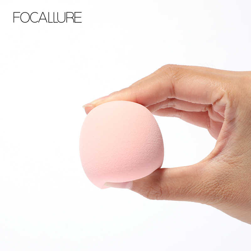 FOCALLURE 1 pièces éponge de maquillage bouffée cosmétique douce convient pour fond de teint poudre correcteur facile à porter outils de maquillage