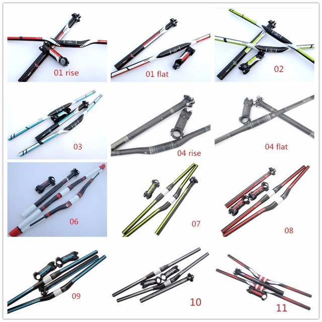 Hot Sale FCFB Carbon Handlebar Set Mtb Bike Handlebar + Seatpost + Stem Bike Parts