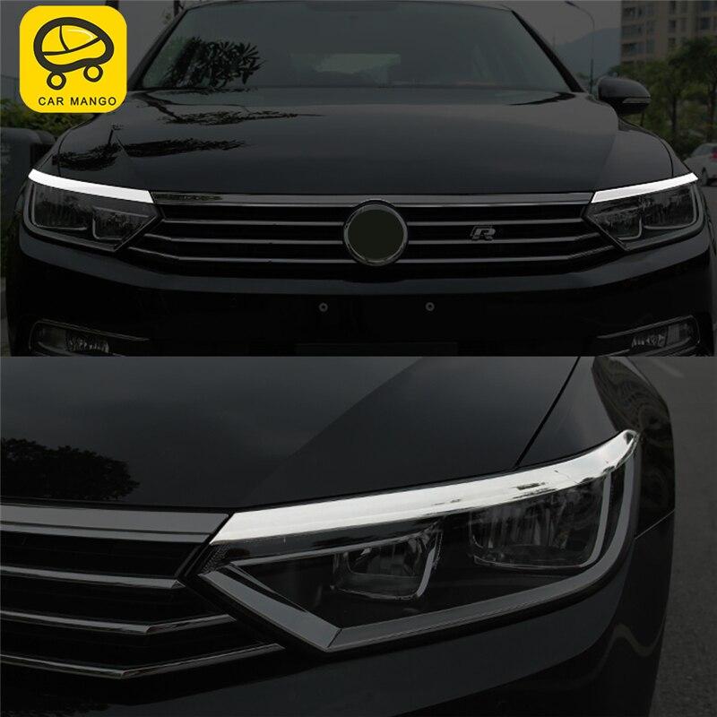 Voiture MANGO voiture style avant lumière lampe phare couverture garniture cadre autocollant accessoires extérieurs pour Volkswagen Passat B8 2018