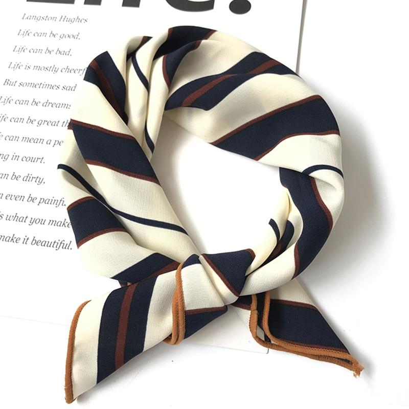 Silk scarf women 50*50