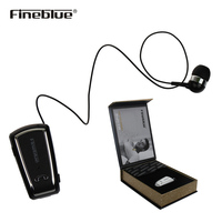 Fineblue F V3 Business Bluetooth Headset Mini Wireless Driver Auriculares Stereo Retractable Clip Audifonos Earphone With