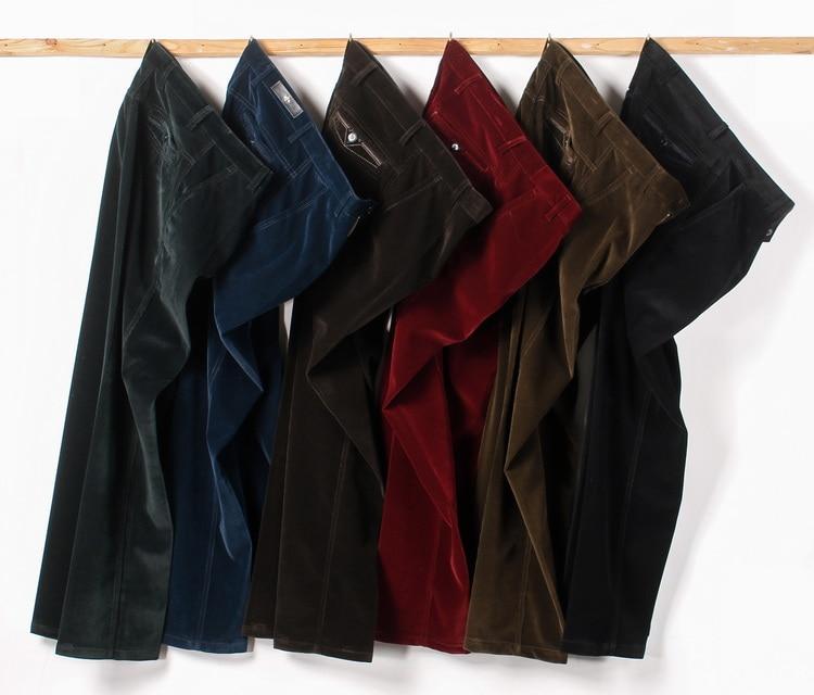HTB14plcKuSSBuNjy0Flq6zBpVXau Autumn Spring corduroy trousers men's leisure pants high waist straight middle-aged wash and wear business casual corduroy pants