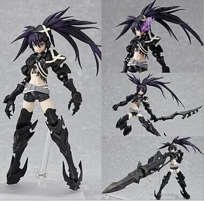 NEW 15cm Mato Kuroi BLACK ROCK SHOOTER Insane BLACK ROCK SHOOTER movable action figure toys Christmas gift collectors with box new hot 15cm black widow super hero avengers movable action figure toys collection christmas gift with box