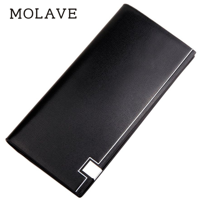 MOLAVE wallets wallet male Solid card holder Men Long Bifold Business Leather Wallet Money Card Holder Coin Bag Purse wal Feb13 цена