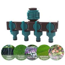 Garden Irrigation System 4-way Tap Hose Splitter Garden Drip 4/7 or 8/11 Hose Fittings Pipe Connector Irrigation Set Watering garden hose splitter connectors attachments two way outdoor adapter rubber washers watering