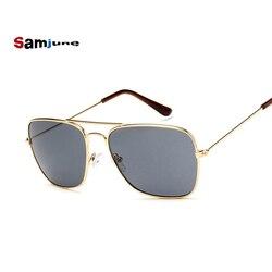 Samjune Men Square Flat Lenses Aviation Sunglasses Brand Designer New Vintage Women Pink Mirror Driving Sun Glasses