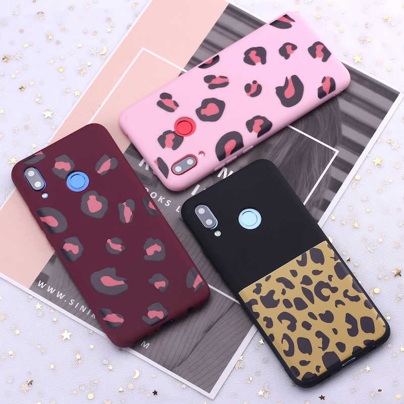 For Samsung S8 S9 S10 S10e Plus Note 8 Note 9 Leopard Print Pink Sexy Candy Silicone Phone Case Cover Capa Fundas Coque