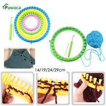 4 Size Colorful Knitting Machine Loom Set Round Circle Hat Knitter Sewing Tools for Hats Scarves DIY Tool Kits