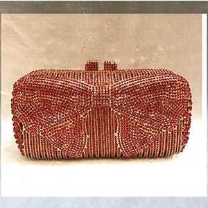 זהב קריסטל ערב מצמד תיק מעצבי נשים תיקים וארנקים חתונה כלה תיקי יהלום ורוד הכחול תיק ציפורני מתכת/אדום