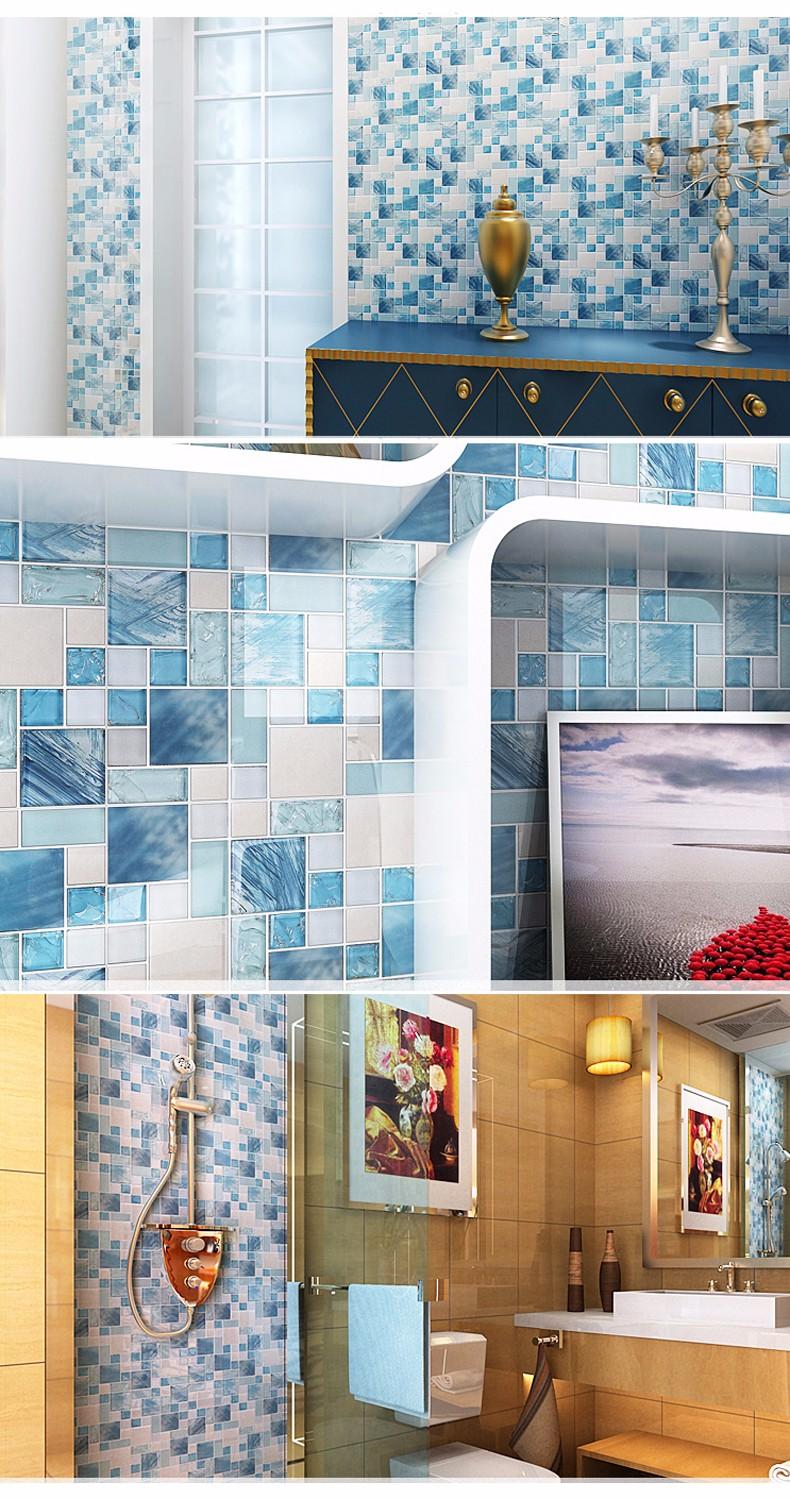Home improvement glass stainless steel tile kitchen backsplash sky ...