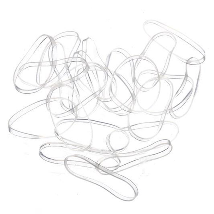 100PCS Flexibility High Quality Transparent Rubber Band