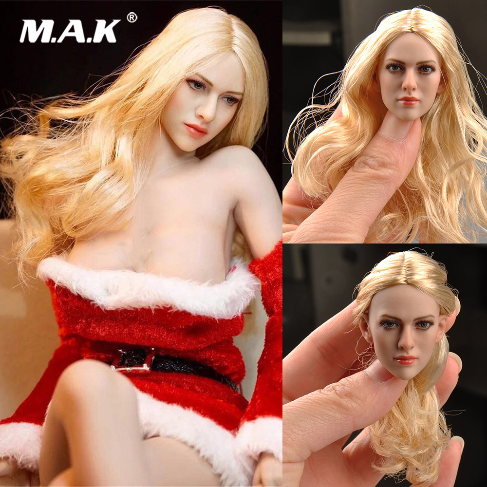 1/6 Scale Blond Hair Female Head Sculpt KT004 Model Fit 12