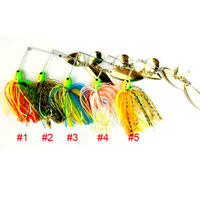 HEGNJIA Fishing spinner spoon lures 20pcs 16.3G rubber jig buzzbait wobble fishing baits pike lead head pesca fishing tackle