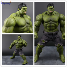 Tobyfancy The Avengers Red Hulk Action Figure Collectable Model Muscle Man Joints PVC Superman Crazy Toy Gift 26CM(China)