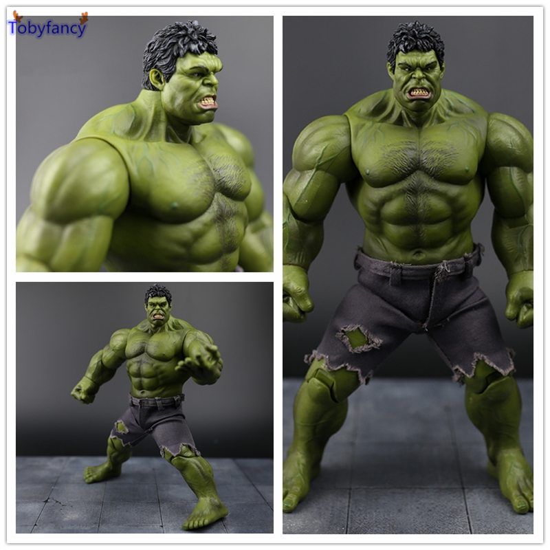 Tobyfancy The Avengers Red Hulk Action Figure Collectable Model Muscle Man Joints  PVC Superman Crazy Toy Gift 26CM  funko pop marvel the hulk no 08 red hulk no 31 iron man vinly bobble head pvc action figure collectible model toy gift for kids