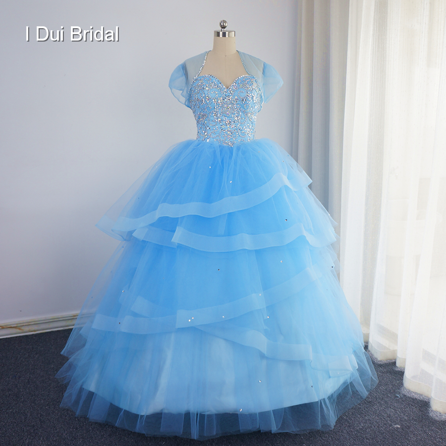 Sweetheart Ball Gown Graduation Quinceanera Dresses with Jacket Luxury 2017 Big Skirt Vestidos De 15 Anos Debutante Gown