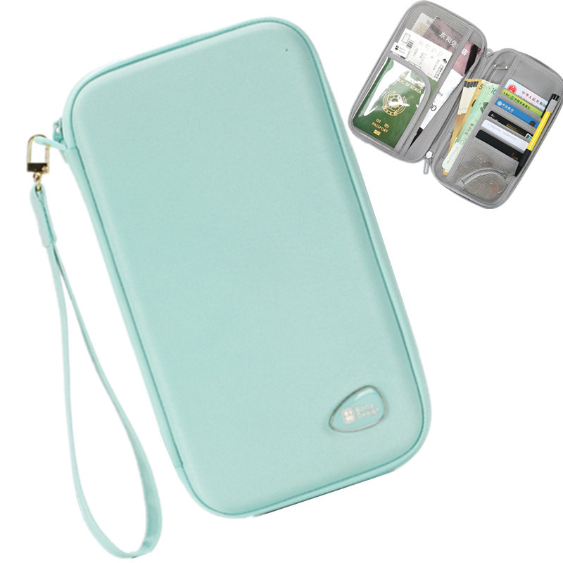 Travel Accessory Hard Shell Passport Cover Package Women Credit ID Card Ticket Document Holder Wallet Organizer Storage Case Bag