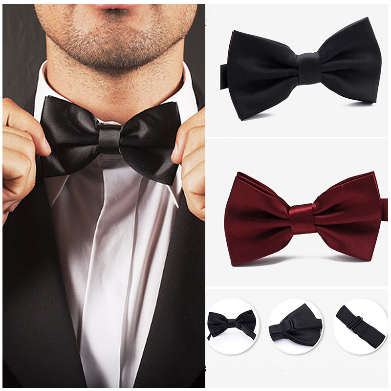 2019 New Wedding Wedding Bow Tie Groomsman Black British Ties Bow Tie Suit Shirt Red Bow