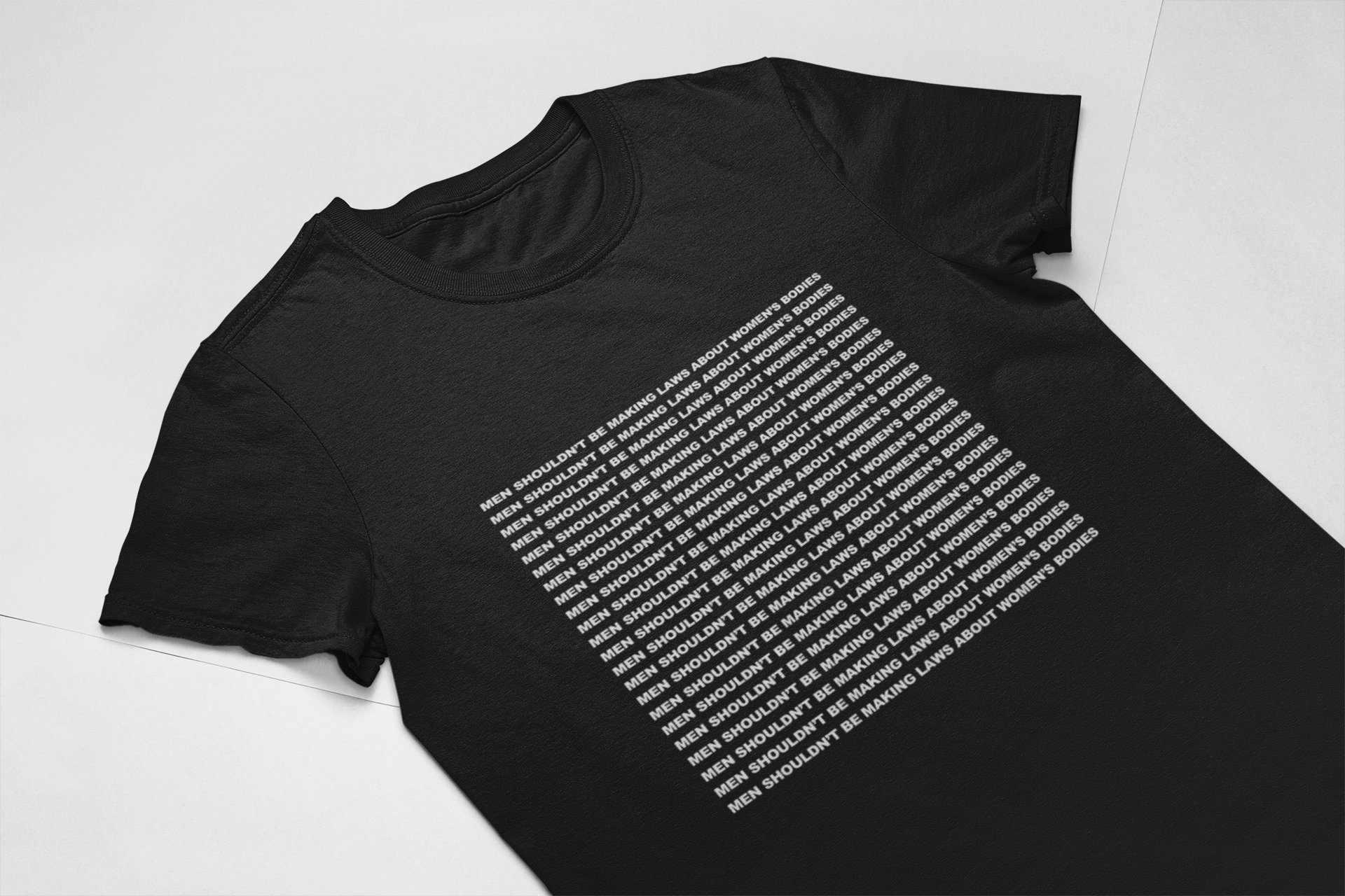 Kuakuayu HJN Mannen Mag niet Maken Wetten Over vrouwen Lichamen Slogan T-Shirt vrouwen Menselijk Rechts Tee Feministische shirt