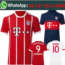 Free shipping football jersey 2017 2018 man Bayernes Muniches best quality camisetas de futbol Soccer jersey(China)