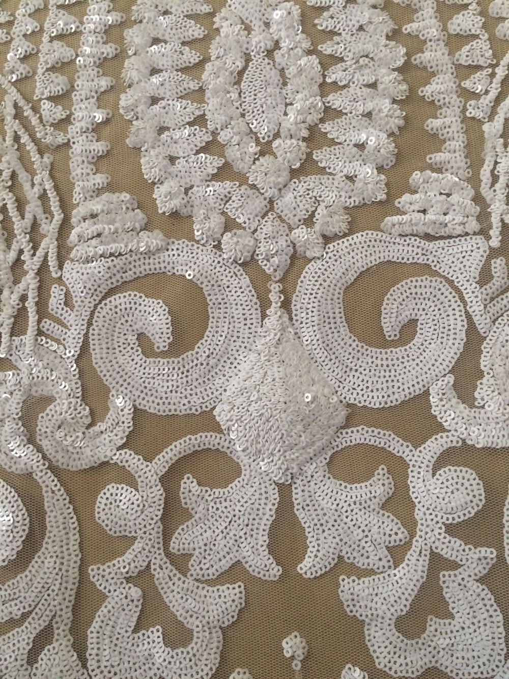 Sequins Lace Fabric For Wedding Dress In Pure White Color LJY80331 French  Net Fabric For Nice Dress In Lace From Home U0026 Garden On Aliexpress.com |  Alibaba ...