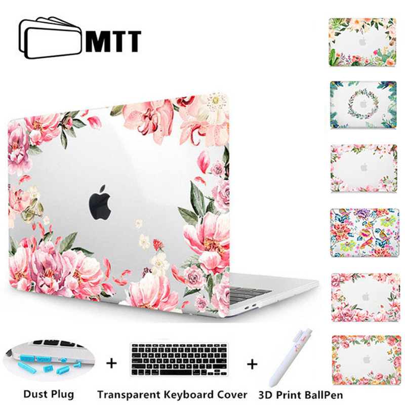MTT Floral Laptop Case For Macbook Air Pro 11 12 13 15 Retina for Apple Mac book Cover 13.3 inch Touch Bar Flowers Laptop Sleeve mtt flowers crystal hard case for apple macbook air pro retina 11 12 13 15 floral cover for mac book pro 13 3 inch laptop sleeve