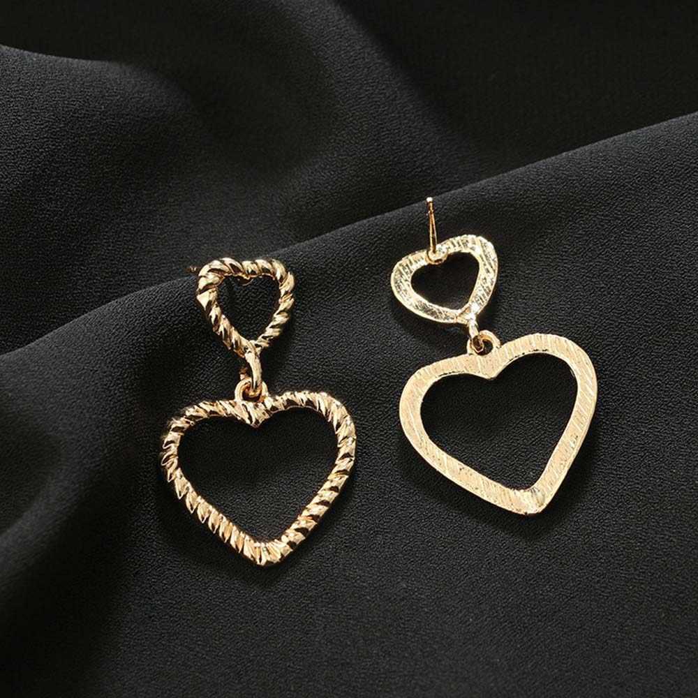 Chadestenty полые золотые серебряные сладкое сердце висячие серьги день Святого Валентина Любовь люстра серьги с подвесками вечерние ювелирные изделия