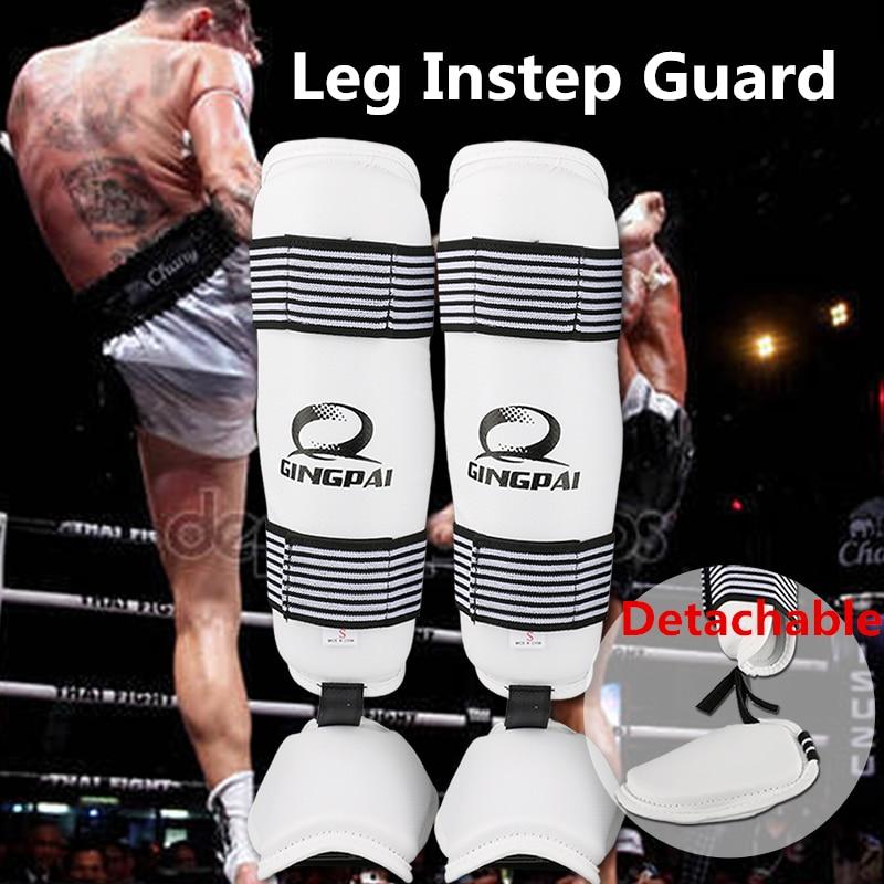Искусственная кожа для взрослых и детей Муай Тай Kick Boxing MMA борется щитки колодки тхэквондо каратэ ногу защитника хвостовиком ногу протектор...