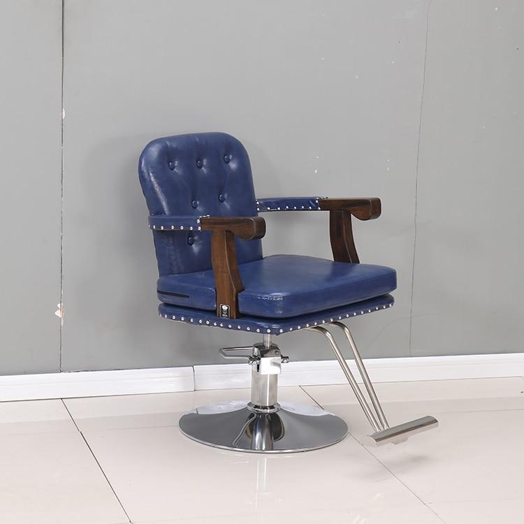 Купить с кэшбэком Barber shop chair hair salon special hair chair high-grade cut hair chair restoring ancient style hair chair can lift hair chair