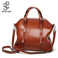 SEVEN SKIN Brand Leather Women Bags High Capacity Shoulder Bags For Women Luxury Handbags Female Large