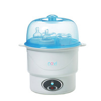 Baby Electric Steam Sterilizer for 6 Bottles Portable Baby Bottle Sterilizer Anti dry Protection One Button Operation