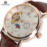 FORSINING Brand New Men Luxury Mechanical Men S Watches Multiple Time Zones Wrist Watch For Gift