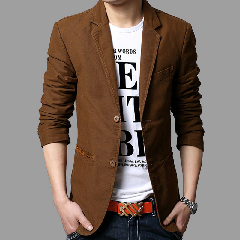 2017 New Men Blazer slim fit suit jacket Brand New spring autumn ...