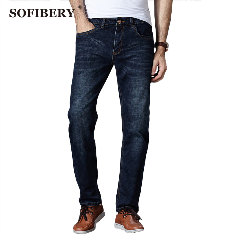ФОТО SOFIBERY  Brand Men's Jeans High Stretch Jeans Slim Tapered Jeans Denim Trousers Plus Size 30 - 46 M914-8901